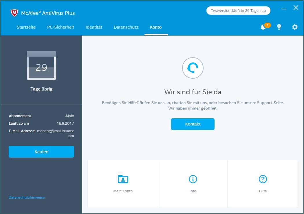 McAfee AntiVirus 1 Gerät / 12 Monate günstig online kaufen