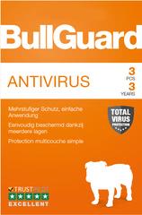 Verpackung von BullGuard Antivirus 3 PCs 36 Monate [PC-Software]