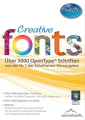 Verpackung von Creative Fonts [PC-Software]