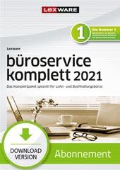 Verpackung von Lexware büroservice komplett 2021 – Einzelplatz Abo Version [PC-Software]