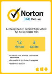 Verpackung von NortonLifeLock Norton 360 Deluxe (3 Geräte / 1 Jahr) [MULTIPLATFORM]