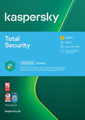 Verpackung von Kaspersky Total Security 2021 (3 Geräte / 1 Jahr) [MULTIPLATFORM]