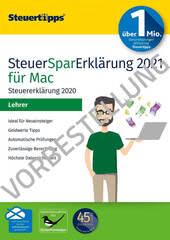 Verpackung von SteuerSparErklärung Lehrer 2022 (für Steuerjahr 2021) Mac - Vorbestellung [Mac-Software]