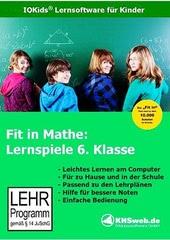 Verpackung von Fit in Mathe: Lernspiele 6. Klasse [PC-Software]