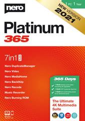 Verpackung von Nero Platinum 365 – Jahresversion (365-Tage) [PC-Software]