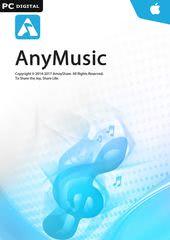 Verpackung von AnyMusic für Mac - 1 Jahr Laufzeit [Mac-Software]