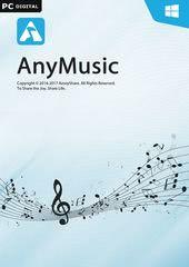 Verpackung von AnyMusic für PC - 1 Jahr Laufzeit [PC-Software]