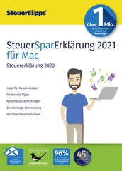 Verpackung von SteuerSparErklärung 2021 (für Steuerjahr 2020) Mac [Mac-Software]