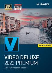 Verpackung von MAGIX Video deluxe 2022 Premium [PC-Software]