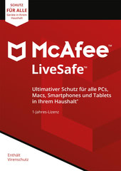 Verpackung von McAfee LiveSafe Unlimited Devices / 12 Monate [MULTIPLATFORM]