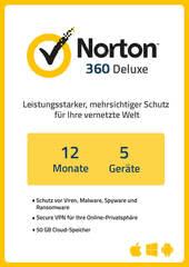 Verpackung von NortonLifeLock Norton 360 Deluxe (5 Geräte / 1 Jahr) [MULTIPLATFORM]