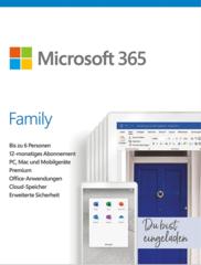Verpackung von Microsoft 365 Family [MULTIPLATFORM]