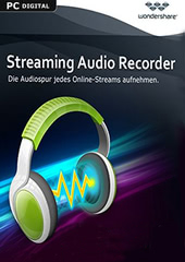 Verpackung von Wondershare Streaming Audio Recorder - lebenslange Lizenz [PC-Software]