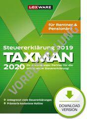 Verpackung von TAXMAN 2021 Rentner & Pensionäre (für Steuerjahr 2020) - Vorbestellung [PC-Software]