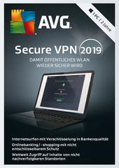 Verpackung von AVG SecureVPN 2019 - 1 PC / 2 Jahre [PC-Software]