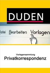 Verpackung von Duden Vorlagensammlung - Privatkorrespondenz für PC [PC-Software]