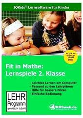Verpackung von Fit in Mathe: Lernspiele 2. Klasse [PC-Software]
