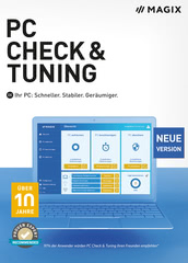 Verpackung von MAGIX PC Check & Tuning 2021 [PC-Software]