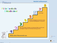 Bild von Fit in Deutsch: Diktattrainer - 6. Klasse [PC-Software]