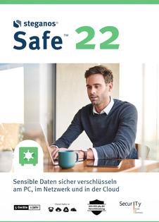 Verpackung von Steganos Safe 22 (1 Jahr / 5 Geräte) [PC-Software]