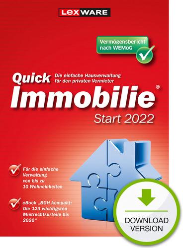 Verpackung von Lexware QuickImmobilie Start 2022 [PC-Software]