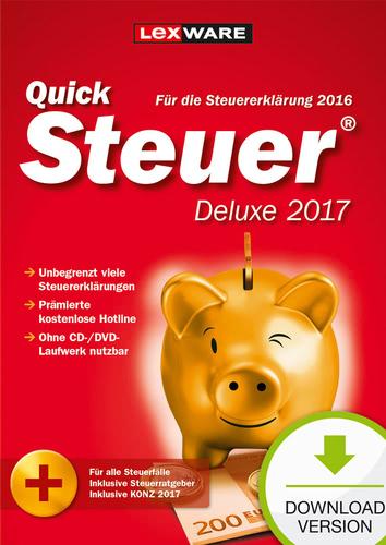 QuickSteuer Deluxe 2017 (für Steuerjahr 2016) (Download), PC