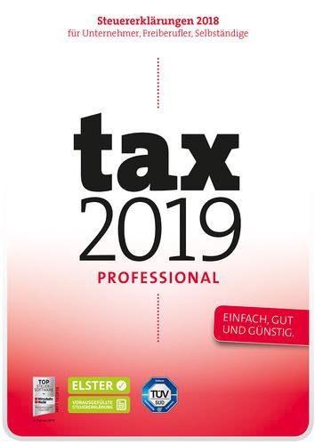Verpackung von tax 2019 Professional (für Steuerjahr 2018) [PC-Software]