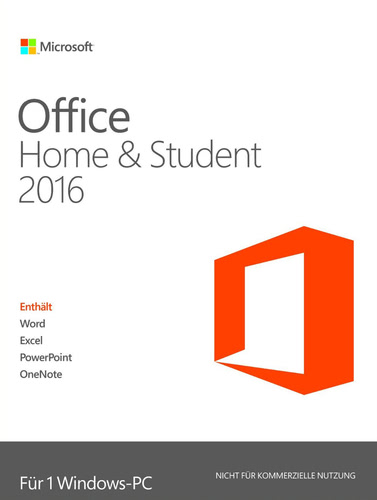 Verpackung von Microsoft Office Home and Student 2016 (Windows) [PC-Software]