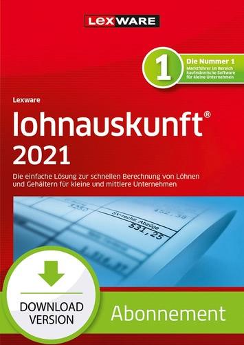 Verpackung von Lexware lohnauskunft 2021 - Abo Version [PC-Software]