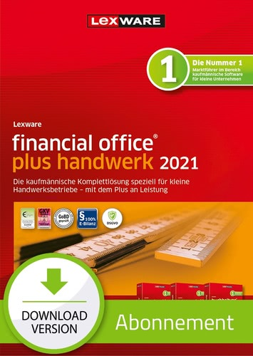 Verpackung von Lexware financial office plus handwerk 2021 - Abo-Version [PC-Software]