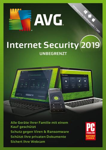 Verpackung von AVG Internet Security - Unbegrenzte Geräte / 1 Jahr [MULTIPLATFORM]
