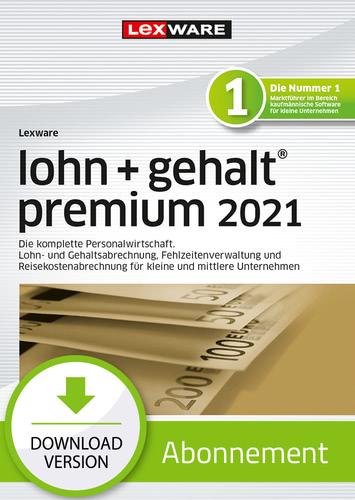 Verpackung von Lexware lohn+gehalt premium 2021 - Abo Version [PC-Software]