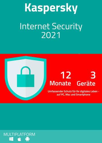 Verpackung von Kaspersky Internet Security 2021 (3 Geräte / 12 Monate) [MULTIPLATFORM]