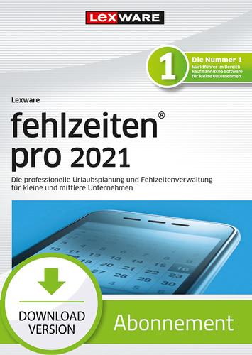 Verpackung von Lexware fehlzeiten pro 2021 - Abo Version [PC-Software]