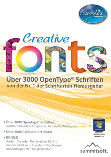 Verpackung von Creetix Creative Fonts [PC-Software]