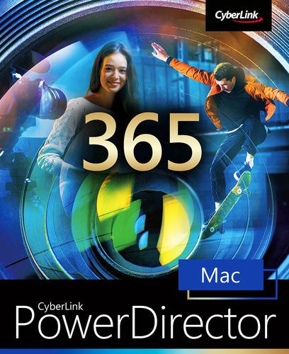 Verpackung von CyberLink PowerDirector 20 365 - 12 Monate für MAC [Mac-Software]