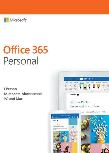 Verpackung von Office 365 Personal - 1 User / 12 Monate [MULTIPLATFORM]