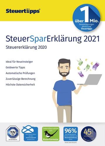 Verpackung von SteuerSparErklärung 2021 (für Steuerjahr 2020) [PC-Software]