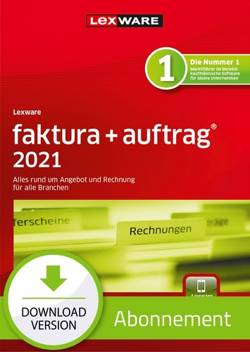 Verpackung von Lexware faktura + auftrag 2021- Abo Version [PC-Software]