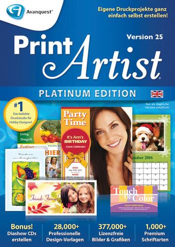 Verpackung von Print Artist Platinum 25 (Englisch) [PC-Software]