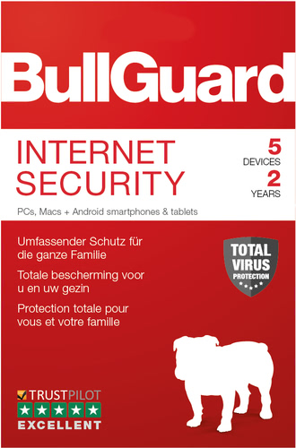 Verpackung von BullGuard Internet Security 5 Geräte 24 Monate [MULTIPLATFORM]