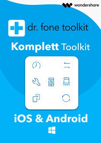 Verpackung von Wondershare Dr. Fone - Komplett Toolkit für PC 5 Geräte 1 Jahr Laufzeit [PC-Software]