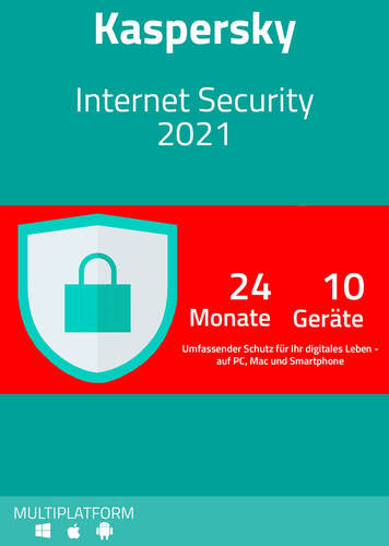 Verpackung von Kaspersky Internet Security 2021 (10 Geräte / 24 Monate) [MULTIPLATFORM]