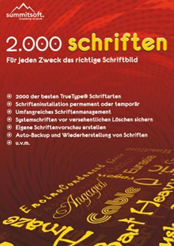 Verpackung von 2.000 Schriften [PC-Software]