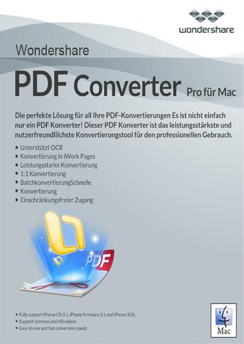 Verpackung von Wondershare PDF Converter Pro für Mac [Mac-Software]
