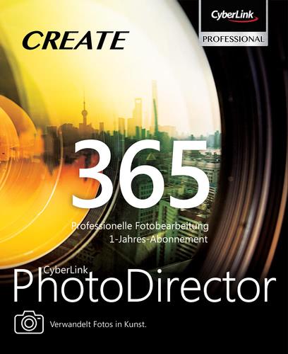Verpackung von CyberLink PhotoDirector 365 Jahresversion (365-Tage) [PC-Software]