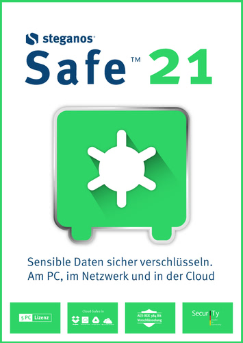 Verpackung von Steganos Safe 21 [PC-Software]