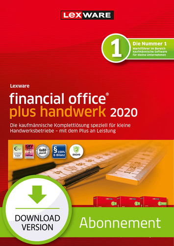 Verpackung von Lexware financial office 2020 plus handwerk - Abo-Version [PC-Software]