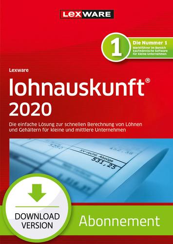 Lexware lohnauskunft 2020 – Abo-Version (Download), PC
