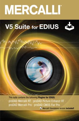 Verpackung von proDAD Mercalli V5 Suite für EDIUS [PC-Software]